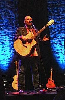 Colin Hay talks to the audience at The Keswick Theater, Glenside, PA. April 28, 2012.